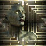 金属未来-瞎的观看者 图库摄影