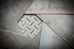 金属板和金属金刚石板材特写镜头  图库摄影