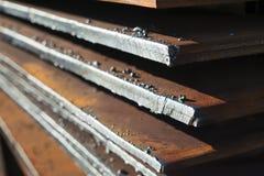 金属板在工厂被存放 免版税库存图片