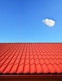 金属板新的屋顶  库存照片