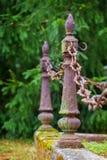 金属柱子和链子 图库摄影