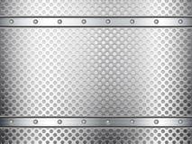 金属栅格背景 免版税库存图片