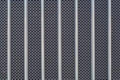 金属栅格镀铬物卡车前面幅射器纹理 免版税库存图片