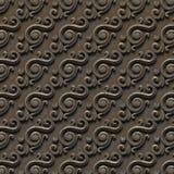 金属样式 无缝的纹理浅浮雕,包括建筑装饰的各种各样的元素和装饰 免版税图库摄影