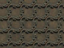 金属样式 无缝的纹理浅浮雕,包括建筑装饰的各种各样的元素和装饰 库存例证