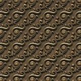 金属样式 无缝的纹理浅浮雕,包括建筑装饰的各种各样的元素 向量例证