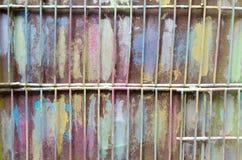 金属格子在明亮的颜色被绘 图库摄影