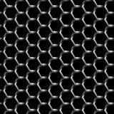 金属格栅无缝背景的样式 库存例证