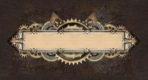 金属框架和钟表机构细节 免版税库存照片