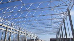 金属框架植物的建筑 免版税库存照片