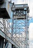 金属桥梁的片段 免版税库存照片