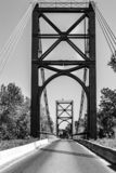 金属桥梁 免版税库存照片