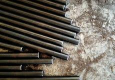 金属棒和金属尘土 免版税库存图片