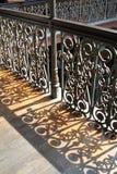 金属楼梯栏杆 库存图片