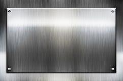 金属模板背景 免版税库存照片