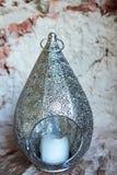 金属灯笼蜡烛台美丽的景色 库存图片