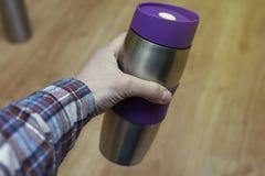 金属热水瓶 免版税库存照片
