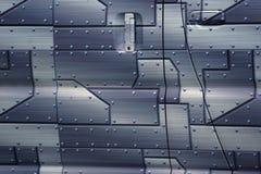金属片与钉子头 灰色backgraund 在汽车的Oracal影片 汽车的门 免版税库存图片