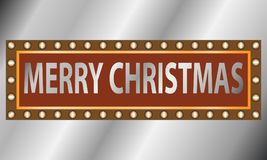 金属片剂-圣诞快乐 库存图片