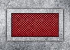 金属片在一个红色格子钢制框架设计解答 库存图片