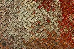 金属片红色生锈的纹理白色 库存图片