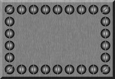 金属片银 向量例证
