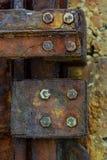 金属生锈的墙壁 库存照片