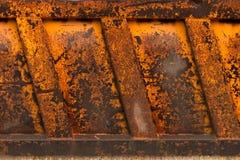 金属生锈的纹理 老卡车的身体的片段 免版税库存图片