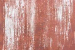金属生锈的表面 白色油漆污迹  免版税库存图片