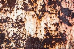 金属生锈的表面 免版税库存照片