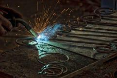 金属电弧焊接 免版税库存图片