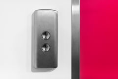 金属电梯按钮 免版税图库摄影