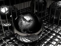 金属的地球 免版税库存照片