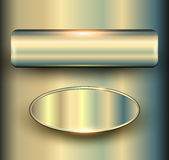 金属的横幅3D 库存照片