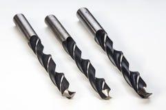 金属的螺旋钻位 库存图片