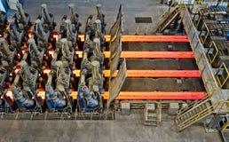 金属的连续的熔炼 免版税库存图片