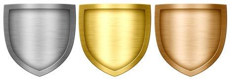 金属盾 皇族释放例证