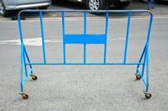 金属立场障碍蓝色 库存图片