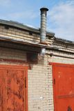 金属管子火炉热化结构  库存照片