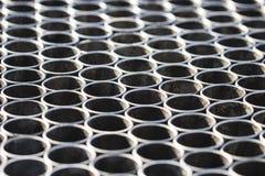 金属管子纹理  所选的重点 库存图片