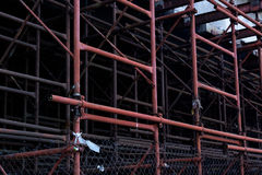 金属管子建筑支持具体块 免版税库存图片