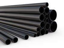 黑金属管子 免版税图库摄影