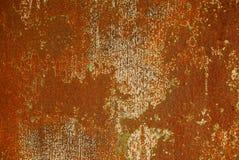 从金属篱芭墙壁的生锈的铁纹理 库存照片