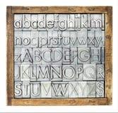 金属类型字母表 免版税图库摄影