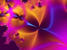 金属紫色星形 免版税图库摄影