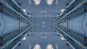 金属结构镜子作用设计 免版税库存照片