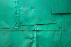 金属绿色墙壁 免版税库存图片