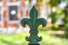 金属绿色百合 金属绿色百合 免版税库存照片
