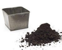 金属罐土壤 免版税库存图片
