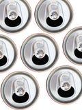 金属罐头顶视图 样式从啤酒或苏打舱内甲板位置能 库存照片